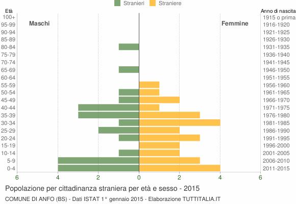 Grafico cittadini stranieri - Anfo 2015