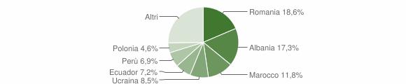 Grafico cittadinanza stranieri - Casorezzo 2019