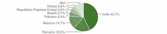Grafico cittadinanza stranieri - Cicognolo 2019