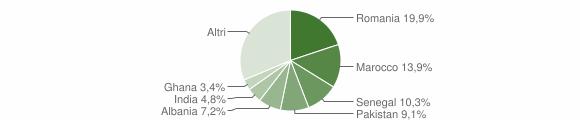 Grafico cittadinanza stranieri - Corte Franca 2009