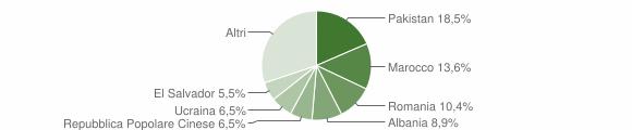 Grafico cittadinanza stranieri - Magnago 2019