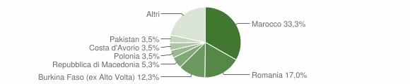 Grafico cittadinanza stranieri - Muscoline 2009