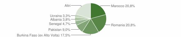 Grafico cittadinanza stranieri - Muscoline 2014