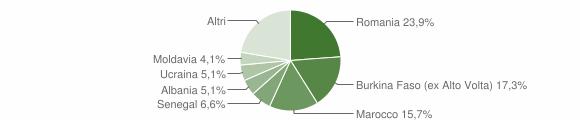 Grafico cittadinanza stranieri - Muscoline 2016
