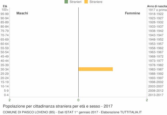 Grafico cittadini stranieri - Paisco Loveno 2017