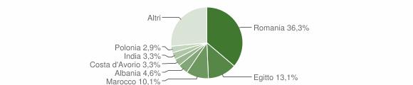 Grafico cittadinanza stranieri - Palazzo Pignano 2015
