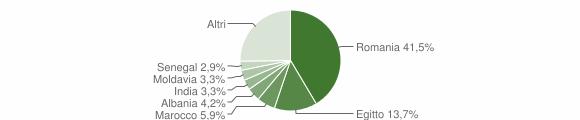 Grafico cittadinanza stranieri - Palazzo Pignano 2017