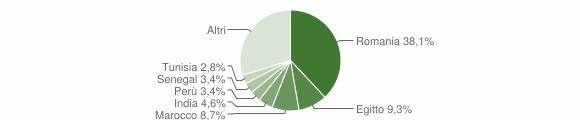 Grafico cittadinanza stranieri - Palazzo Pignano 2019