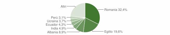Grafico cittadinanza stranieri - Vaiano Cremasco 2019