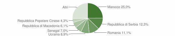 Grafico cittadinanza stranieri - Clusone 2016