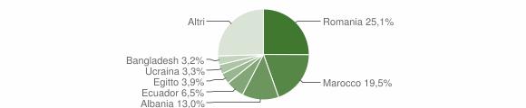 Grafico cittadinanza stranieri - Bellusco 2016