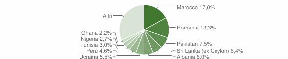 Grafico cittadinanza stranieri - Lomazzo 2019