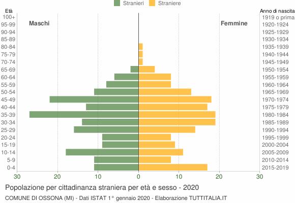 Grafico cittadini stranieri - Ossona 2020