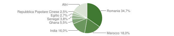 Grafico cittadinanza stranieri - Calvisano 2019