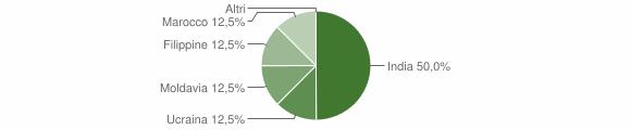 Grafico cittadinanza stranieri - Ticengo 2010