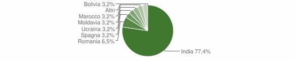 Grafico cittadinanza stranieri - Ticengo 2015