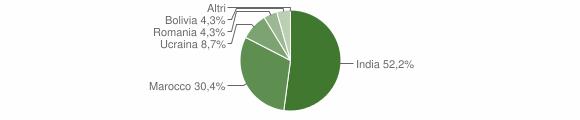 Grafico cittadinanza stranieri - Ticengo 2019