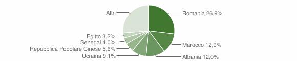 Grafico cittadinanza stranieri - Voghera 2015
