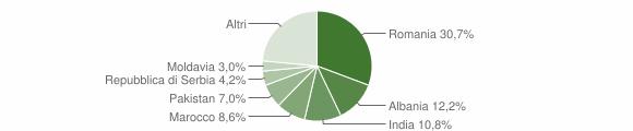 Grafico cittadinanza stranieri - Montichiari 2018