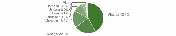 Grafico cittadinanza stranieri - Lodrino 2005