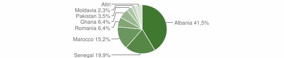 Grafico cittadinanza stranieri - Lodrino 2016