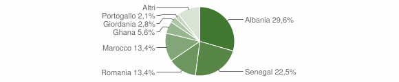 Grafico cittadinanza stranieri - Lodrino 2019