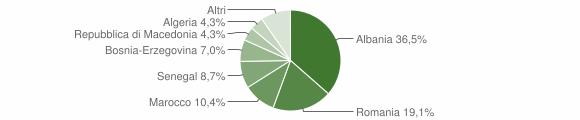 Grafico cittadinanza stranieri - Malegno 2008