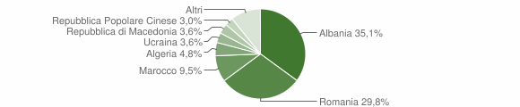 Grafico cittadinanza stranieri - Malegno 2010