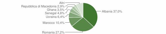 Grafico cittadinanza stranieri - Malegno 2013