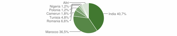 Grafico cittadinanza stranieri - Pescarolo ed Uniti 2019