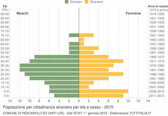 Grafico cittadini stranieri - Pescarolo ed Uniti 2015