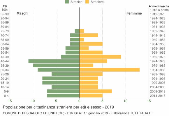 Grafico cittadini stranieri - Pescarolo ed Uniti 2019