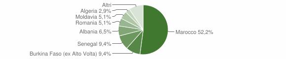 Grafico cittadinanza stranieri - Preseglie 2009