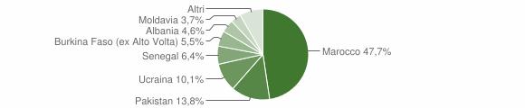 Grafico cittadinanza stranieri - Preseglie 2018