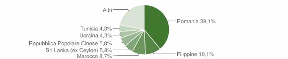 Grafico cittadinanza stranieri - Anzano del Parco 2019