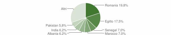 Grafico cittadinanza stranieri - Arzago d'Adda 2019