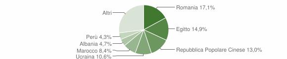 Grafico cittadinanza stranieri - Casarile 2018