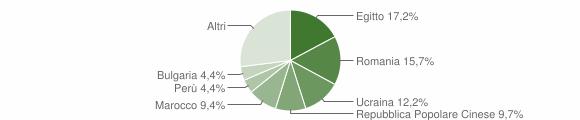 Grafico cittadinanza stranieri - Casarile 2019