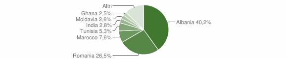 Grafico cittadinanza stranieri - Chiari 2010