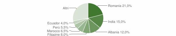 Grafico cittadinanza stranieri - Merlino 2018