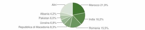 Grafico cittadinanza stranieri - Teglio 2014
