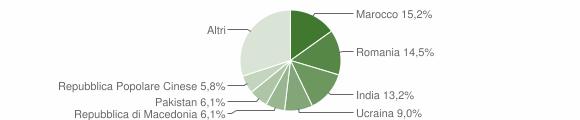 Grafico cittadinanza stranieri - Teglio 2019