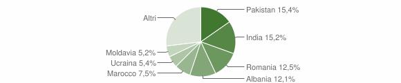 Grafico cittadinanza stranieri - Borgosatollo 2013