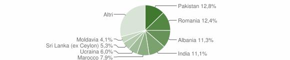 Grafico cittadinanza stranieri - Borgosatollo 2014
