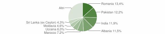 Grafico cittadinanza stranieri - Borgosatollo 2015