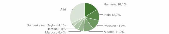 Grafico cittadinanza stranieri - Borgosatollo 2019
