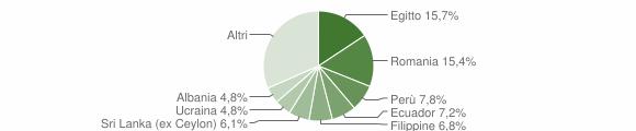 Grafico cittadinanza stranieri - Corsico 2019