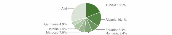 Grafico cittadinanza stranieri - Daverio 2011