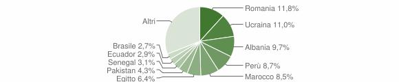 Grafico cittadinanza stranieri - Gaggiano 2019