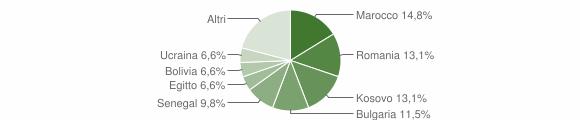 Grafico cittadinanza stranieri - Piazza Brembana 2019